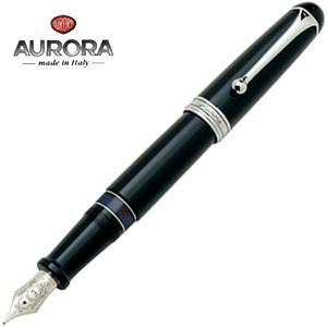 万年筆 アウロラ 88 オールブラック・クロムトリム 万年筆 シルバー 800-C nomado1230