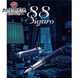 万年筆 名入れ アウロラ 限定生産品 88 SIGARO BLUE シガロ・ブルー 万年筆 883-B|nomado1230