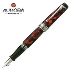 万年筆 名入れ アウロラ オプティマ シルバークリップ 万年筆 バーガンディ 996CX|nomado1230