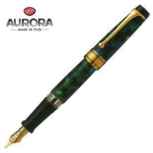 万年筆 名入れ アウロラ オプティマ ゴールドクリップ 万年筆 グリーン 996V|nomado1230