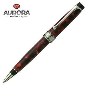 高級 ボールペン 名入れ アウロラ オプティマ シルバークリップ ボールペン バーガンディ 998CXA|nomado1230