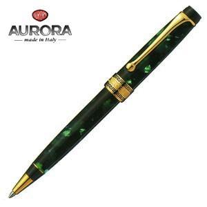 高級 ボールペン 名入れ アウロラ オプティマ ゴールドクリップ ボールペン グリーン 998VA|nomado1230