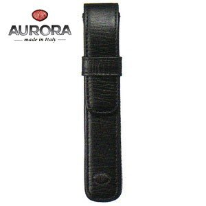 ペンケース 革 名入れ アウロラ かぶせ式 トリノ100 ペンケース 1本用 ブラック TORINO100 nomado1230