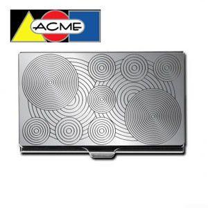 カードケース アクメスタジオ デザイナー ヴェルナー・パントン CIRCLEシリーズ エッチド カードケース C2VP06BC|nomado1230