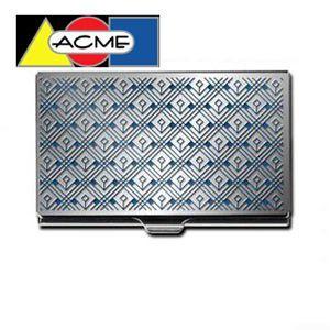 カードケース アクメスタジオ デザイナー フランク・ロイド・ライト CINEMA SAN DIEGOシリーズ エッチド カードケース C2W51BC|nomado1230