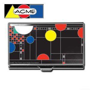 名刺入れ アクメスタジオ デザイナー フランク・ロイド・ライト COONLEYシリーズ ビジネス カードケース CW35BC|nomado1230
