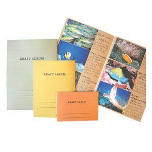 アルバム 石原紙工 Kシリーズ 橙 クラフト アルバム 中 5冊セット KA2-1|nomado1230
