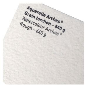 スケッチパッド アルシェ アルシュ水彩紙 超特厚 640グラム トルション 荒目 5枚セット 4001-230|nomado1230