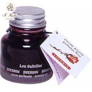 万年筆 エルバン 香り付き ボトルインク 30ミリリットル ローズレッド HB13768|nomado1230