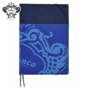 ノートカバー A5 オロビアンコ A5サイズ 外ポケット付 ノートカバー ブルー THV-KN07B|nomado1230