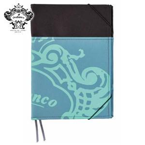 ノートカバー A5 オロビアンコ A5サイズ 外ポケット付 ノートカバー ブルーグリーン THV-KN07BG|nomado1230