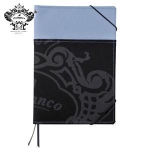 ノートカバー A5 オロビアンコ A5サイズ 外ポケット付 ノートカバー ブルーグレー THV-KN07M|nomado1230