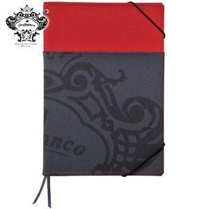 ノートカバー A5 オロビアンコ A5サイズ 外ポケット付 ノートカバー レッド THV-KN07R|nomado1230