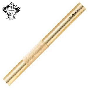 マーカー オロビアンコ Orobianco BRASS マーカー真鍮カバー 蛍光黄 シングル 角芯4mm THV-PM01|nomado1230