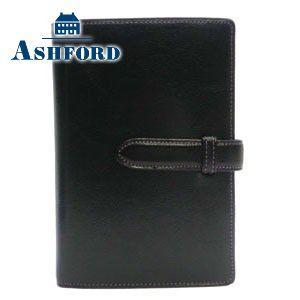 アシュフォード リフィールプレゼント 名入れ無料 ローファー ミニ6穴 システム手帳 ブラック 1187-011 1187 nomado1230