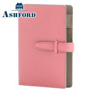 アシュフォード リフィールプレゼント ビバーチェ ミニ6サイズ 13ミリ ベルト システム手帳 ピンク×トープ No. 1216-461|nomado1230