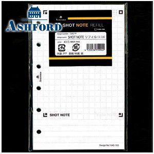リフィル ミニサイズ アシュフォード SHOT NOTE MINI6サイズ リフィール 5セット No. 1545-100|nomado1230