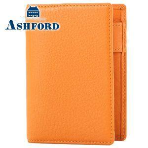システム手帳 マイクロ5 革 アシュフォード シルフ M5 名刺フォン システム手帳 オレンジ No. 2074-084 nomado1230