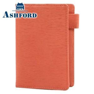 システム手帳 マイクロ5 革 アシュフォード キャロル MICRO5 8ミリ 名刺フォン システム手帳 キャロット 2075-041|nomado1230