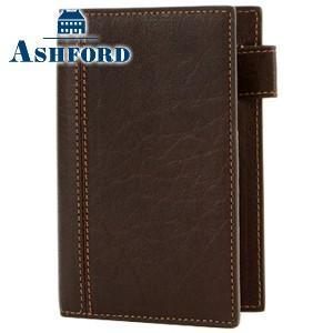 システム手帳 マイクロ5 革 アシュフォード ディープ M5サイズ 11ミリ システム手帳 ブラウン 2084-022|nomado1230