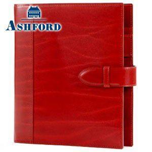 システム手帳 A5 革 アシュフォード リフィールプレゼント 名入れ無料 ルガード A5 システム手帳 044 25ミリ ベルト レッド 3076-044 3076|nomado1230