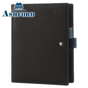 アシュフォード リフィールプレゼント 名入れ無料 ジェム A5 19ミリ システム手帳 ブラック×アシュブルー 3094-179|nomado1230