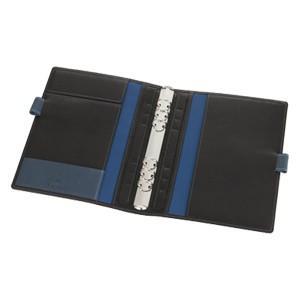 アシュフォード リフィールプレゼント 名入れ無料 ジェム A5 19ミリ システム手帳 ブラック×アシュブルー 3094-179|nomado1230|03