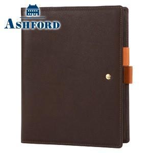 システム手帳 A5 革 アシュフォード リフィールプレゼント 名入れ無料 ジェム A5 19ミリ システム手帳 ブラウン×オレンジ 3094-284|nomado1230