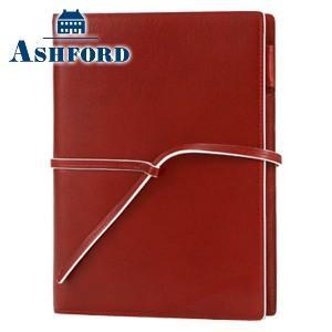 システム手帳 A5 革 アシュフォード リフィールプレゼント 名入れ無料 雅 MIYABI A5 15ミリ 紐ベルト システム手帳 レッド 3095-044|nomado1230