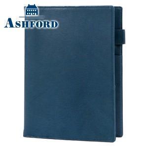 システム手帳 A5 革 アシュフォード 名入れ無料 キャロル A5 15ミリ システム手帳 ネイビー 3096-077|nomado1230