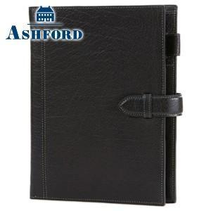 システム手帳 A5 革 アシュフォード リフィールプレゼント 名入れ無料 ディープ A5サイズ 19ミリ ベルト システム手帳 ブラック No. 3102-011|nomado1230