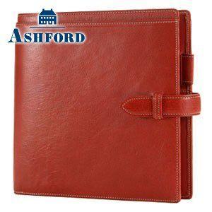 HB×WA5 アシュフォード リフィールプレゼント 名入れ無料 ローファー HB×WA5 システム手帳 レッド 6104-044 6104|nomado1230