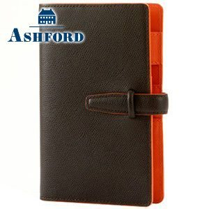 アシュフォード リフィールプレゼント 名入れ無料 ビバーチェ バイブル 15ミリ ベルト システム手帳 ブラウン×オレンジ 7180-284 7180|nomado1230