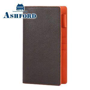 アシュフォード 名入れ無料 ビバーチェ バイブルサイズ システム手帳 11ミリ ノートタイプ ブラウン×オレンジ 7196-284 7196|nomado1230