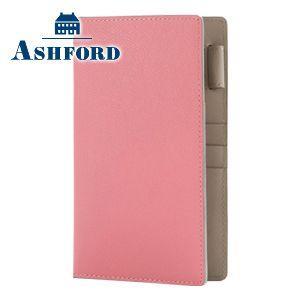 アシュフォード リフィールプレゼント 名入れ無料 ビバーチェ バイブル 11ミリ ノートタイプ システム手帳 ピンク×トープ|nomado1230