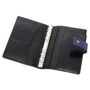 アシュフォード 名入れ無料 ネオフィナード バイブルサイズ システム手帳 15ミリ ホックベルト ネイビー 7200-077 7200|nomado1230|03