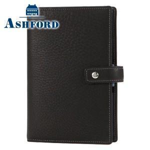 アシュフォード リフィールプレゼント 名入れ無料 ジェム バイブル 19ミリ ホックベルト システム手帳 ブラック×アシュブルー|nomado1230
