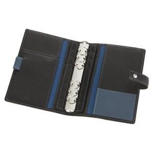 アシュフォード リフィールプレゼント 名入れ無料 ジェム バイブル 19ミリ ホックベルト システム手帳 ブラック×アシュブルー nomado1230 03