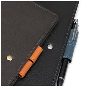 アシュフォード リフィールプレゼント 名入れ無料 ジェム バイブル 19ミリ ホックベルト システム手帳 ブラック×アシュブルー nomado1230 04