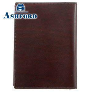 ブックカバー 革 アシュフォード 名入れ無料 ルガード 048 ブックカバー 文庫 ワイン 8048-048 8048|nomado1230