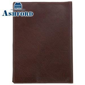ブックカバー 革 アシュフォード ディープ 四六サイズ ブックカバー ブラウン No. 8066-022|nomado1230