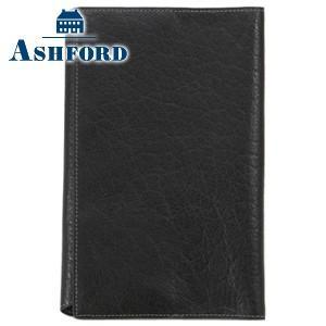 ブックカバー 革 アシュフォード ディープ 新書サイズ ブックカバー ブラック No. 8085-011 nomado1230