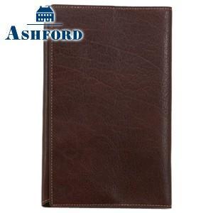 ブックカバー 革 アシュフォード ディープ 新書サイズ ブックカバー ブラウン No. 8085-022|nomado1230