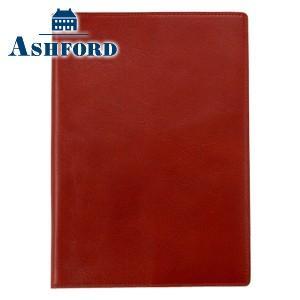 ダイアリー A5 革 アシュフォード 名入れ無料 イシュー A5 ダイヤリーカバー レッド 8232-044|nomado1230