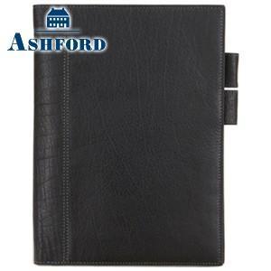 ダイアリー A5 革 アシュフォード ディープ A5サイズ ダイアリーカバー ブラック No. 8236-011|nomado1230