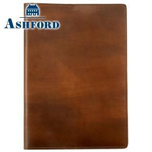 ブックカバー 革 アシュフォード 名入れ無料 ドローイング A5サイズ ダイアリーカバー ベージュ 8239-060|nomado1230