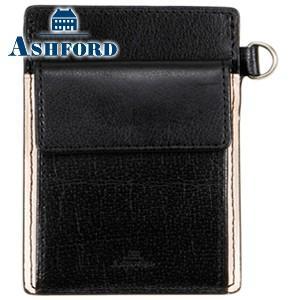 パスケース メンズ 革 名入れ アシュフォード マイミクスチュア 単パスケース ブラック 8394-011 nomado1230