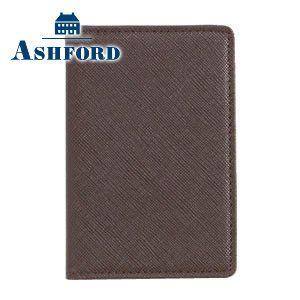 パスケース 革 名入れ アシュフォード ベスティート 2面パス ブラウン 8396-022 8396|nomado1230
