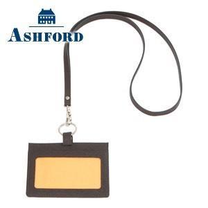 IDカードケース 革 名入れ アシュフォード ベスティート IDカードホルダー ブラウン 8496-022 8496|nomado1230