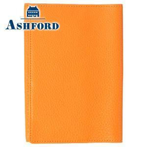 ブックカバー 革 アシュフォード シルフ 文庫サイズ ブックカバー オレンジ No. 8592-084 nomado1230